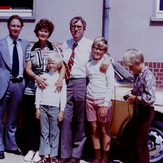 Helga & Horst with their three sons and Gerold Sievers her brother