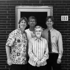 Helga and her three sons Bernie, Bob & Detlef 2018