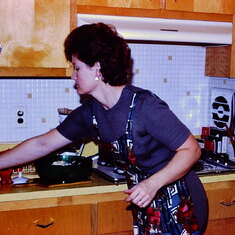"In her 1st Kitchen, she always had a surprise cooking, if not a ""mishmash"" of left overs."