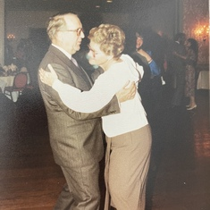 Helga and Horst dancing at Lisa Hartung Narayanan's wedding. June 1988
