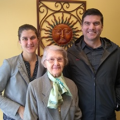 Hannah and Brooks with Oma Ulfers on around late 2019