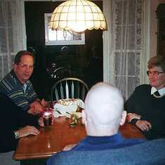 "Helga with others at a ""Souper Bible Study"" group supper and study night in 1998."