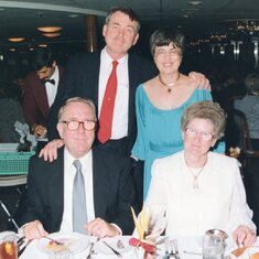 Ma & Pa and Jim & Cora Moyers (Yezmin's parents) on one of their cruises together.