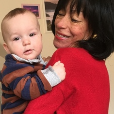 Mom and her great-grandson, baby AJ