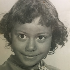 Childhood picture of Mom