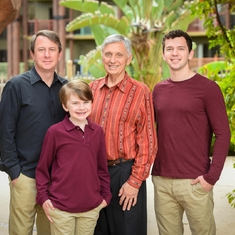 Sam, son Alan, and grandsons Chris and Cooper