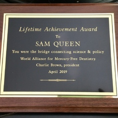This came in the mail for Sam just before he passed - he was so touched by it.