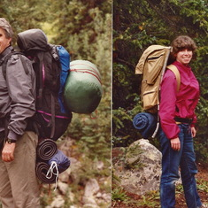 Backpacking in Colorado with cousin Chuck and Charlotte Shelton - 1990