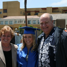Mary Ann, our niece Brianna and Howard on her High School graduation