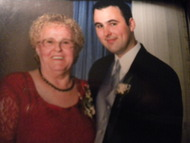 MOM AND STEVE (STEVE AND HIS NANNY ON HIS WEDDING DAY)