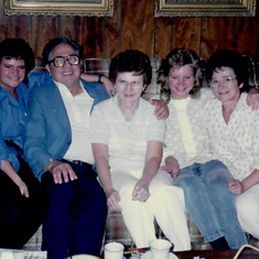 Irene with her sister, Margaret, brother-in-law, Mike, and daughters Anna and Cathy