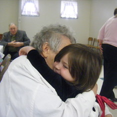 Grandmom gives the best hugs