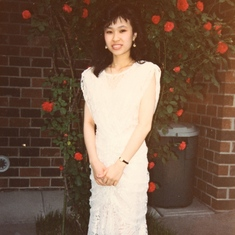 1988, HS Senior Prom - getting ready at my house