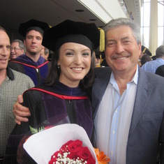 With papa on Graduation