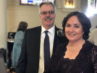 Jack and Teresa at his son Jack's wedding, October 2017