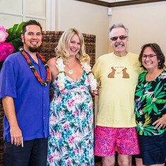 2018 July 29th-Aloha Baby, Todd and Tiffany Leaverton and welcoming Kahlia, Uncle Jack, Aunt Teresa