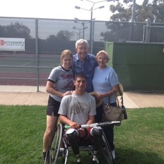 Raising money for Wounded Warriors to provide them with specialized wheelchairs so they could play tennis.