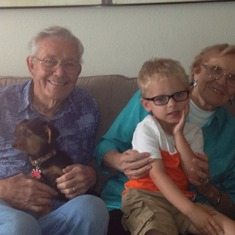 Jack & Dixie with Great Grandson, Ledger