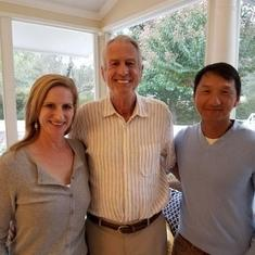 Jim with Erin and Allan Lee at Alexandria home, daughter of Laurey Stryker