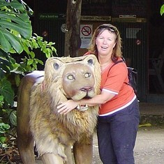 Janette - with lion eating her arm