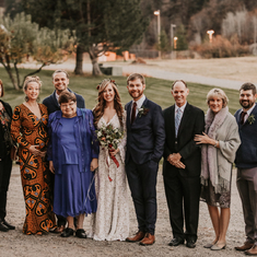 Dixon family at Drew & Katelyn's wedding (November 2018)
