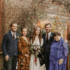 Brent, Lilia, Katelyn, Drew, and Janat Drew & Katelyn's wedding (November 2018)