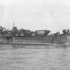 USS LST 1107 - the ship Jay served on in World War II