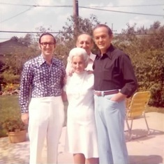Myron, Orville and Jay with their mother Ann.