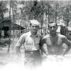 Orville and Jay on Okinawa during WWII.