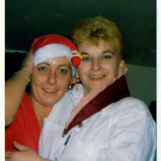 Jayne and Sandra at xmas