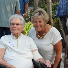 Jean with Nancy Adams, Laguna Blanca School Class of 1968 Reunion, August 2018