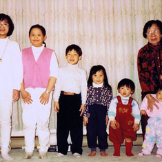March 26, 1994 ~  L to R: Tiffany, Kimberly, Gabriel, Bithiah, Felix, Twila