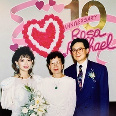 Rosa & Raphael's 10th wedding anniversary's Renewal of Vows in Toronto ~ 1991