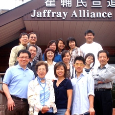 In front of Toronto Jaffray Chinese Alliance Church 多倫多翟輔民宣道會