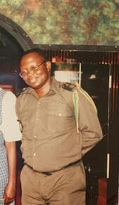 Ekofo Balusa proudly served as a Captain in Congo aka Zaire's army in the finance department