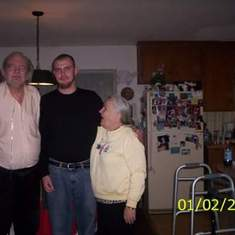 Jesse and his grandma and grandpa Hartung
