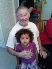My dad and granddaughter