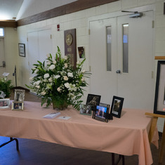 Mom's memorial reception hall October 31, 2015