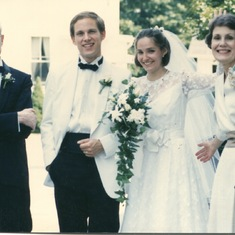 George and Betsy's wedding - 1988