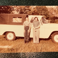 Mom and Laverne and that flatbed truck