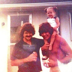 Uncle Tom, Dad and little Cola Evansville 1974
