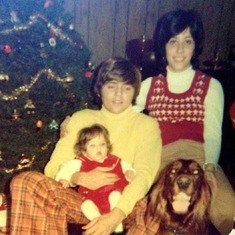 Joe, Allison, Nicole & Missy's First Christmas Iroquois Dr. Evansville IN 1973