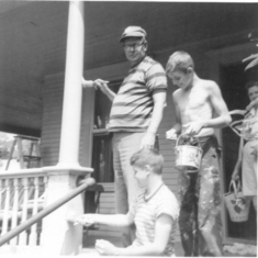 Uncle Bob Rivers, Tom & Joe on Spruce St, Burl. VT
