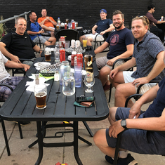 The boys got together at the Rhino. No hockey due to Covid