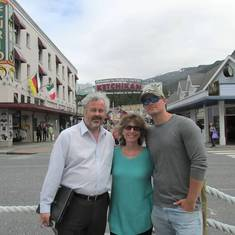 John, Alison, and Chris in Ketchikan, Alaska (2014)