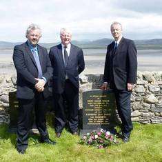 John with his older brother Tom (middle) and twin Hector in Isle of Islay, Scotland (2011)
