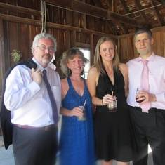 John, Alison, Katie, and Stav at Mark and Tiff Baillie's Wedding (2016)