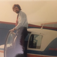 John in his early days of flying