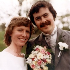 John with his new bride, Alison.