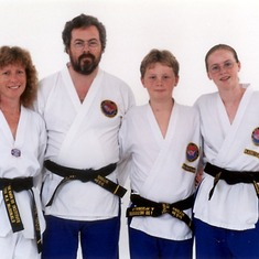 A Baillie family portrait to commemorate achieving our black belts.